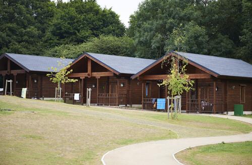 log cabins at Danbury